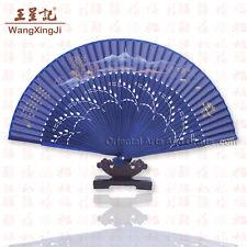 Hand Painted Chinese Painting Held Folding Silk Fan Wedding Decor Fine Art #f202