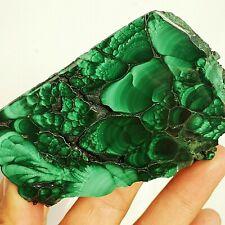 190g Natural malachite slice quartz crystal luster mineral Specimens