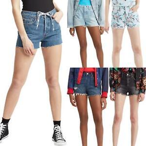Levi's 501 Denim Shorts - High Waisted Floral Shorts