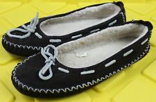 L.L. Bean Womens Sheepskin Slippers Shoes Sz 7 Medium Brown Color