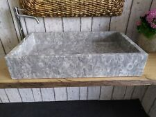 Fossil Marble Grey Shell Sink 173 Measures 70 x 40 cm