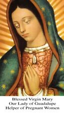 OUR LADY OF GUADALUPE HELPER OF PREGNANT WOMEN PRAYER CARD (wallet size)