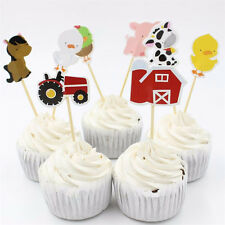 Craft Farm Animal Party Cupcake Toppers Picks for Kids Birthday Party Favors