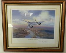 Concorde Limited Edition Framed Print - Concorde Supersonic Signed Artist/Pilot