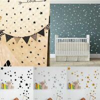 110Pcs Charm Multi-sized Star Wall Stickers Baby Bedroom Decals Art Vinyl Decor