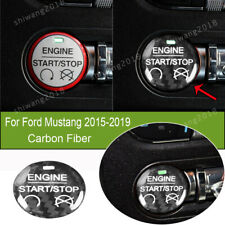 Carbon Fiber Inner Car Engine Start Switch Button Cover For Ford Mustang 2015-19