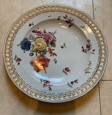 Rare Early Meissen Style German 18th Century Floral Plate Continental
