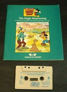 MICKEY MOUSE THE MAGIC BOOMERANG BOOK/TAPE (PRINTED LABEL) WORLDS OF WONDER SC
