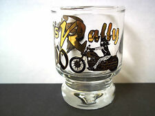 Souvenir shot glass STURGIS Rally 2000 Gold & Black on clear