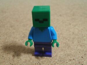 LEGO Minifig Minecraft Zombie Neuf