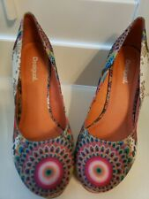 Desigual Cork Wedge heel Colorful Shoes Size 40. US  9.  Orig $150 .from Spain.