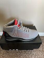 "Adidas D Rose 3 Sz 11.5 US Grey Red Black ""Home"" adiZero Derrick Basketball EUC"