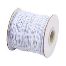 100m/Rollo Blanco Redondo Cadena de Cuerda Elástica Hilo 1mm para Hazlo tú mismo joyería haciendo