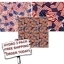 Hydrographic Film Water Transfer Printing Film Hydro Dip Usa Flag 3 Pack