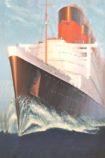 RMS Queen Mary Print on Canvas 24 x 36
