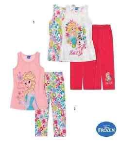 Disney Die Eiskönigin Frozen  T-Shirt mit Leggings Sommer Elsa
