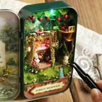 DIY Handcraft Miniature Project Kit Dolls House The Box Theatre Series HOT O6X3