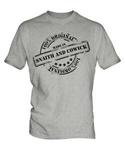 MADE IN SNAITH AND COWICK MENS T-SHIRT GIFT CHRISTMAS BIRTHDAY 18TH 30TH 40TH