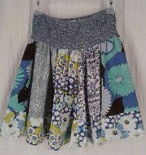 Charlotte Russe Women's Size Small Mini Skirt Floral Patchwork Above Knee