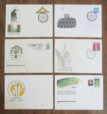 6 Commemorative & First Day Covers - Early Lithuanian Independence, 1990-1991