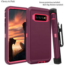 For Samsung Galaxy s10 Case Cover w/Screen & Clip fit Otterbox Defender