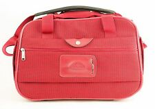 """SAMSONITE Red Carry On Boarding Bag With Strap - Overnight Weekend Luggage 17"""""""