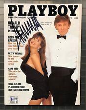 President Donald Trump Signed 1990 PLAYBOY Magazine Autograph Beckett BAS LOA