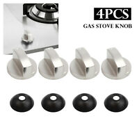 4PCS Stoves Cooker Knobs,Oven Knob 8*8mm Universal Silver Gas Stove Control