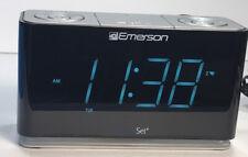 Emerson SmartSet Alarm Clock Radio Bluetooth Speaker Charging Station ER100301