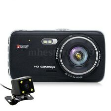 "Junsun H6 HD Car DVR Dash Cam 4"" Vehicle Dual Camera Video Recorder Night Vision"