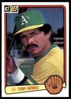 1983 Donruss Set Break Tony Armas Oakland Athletics #71