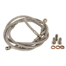 Front ATV Steel Braided Brake Line Standard Length +2