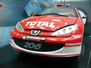 WOW EXTREMELY RARE Peugeot 206 WRC Burns Monte Carlo 2003 1:18 Solido-Auto Art