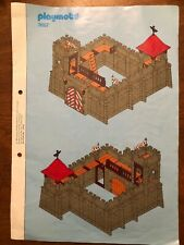 Playmobil Building Instructions 3667 Small Knight Castle Stapled, Complete