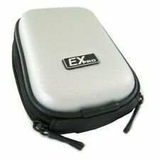 Ex-Pro® Silver Hard Clam Camera Case for Canon Powershot Ixus 200 IS 210