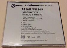 BRIAN WILSON IMAGINATION WORDS + MUSIC SIGNED PROMO CD THE BEACH BOYS