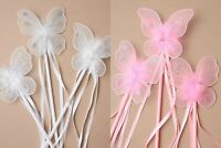 Princess Fancy Dress Butterfly Wand Flower Girl Wedding Bridesmaid Fairy