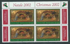 2002 VATICANO NATALE QUARTINA MNH ** - ED