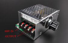 New 4000W AC 220V SCR Voltage Regulator Speed Controller Dimmer Thermostat