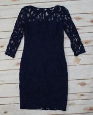 Aidan Mattox Women's Navy Blue Long Sleeve Cocktail Dress Stitch Fix NWT