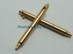 PATEK PHILIPPE 18K,18ct,18kt YELLOW GOLD Pair (17/18mm) SPRING BAR PUSH Pins NEW