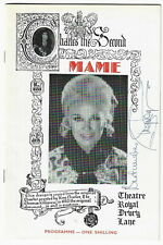 """1969 Ginger Rogers SIGNED """"Mame"""" musical theatre programme London Jerry Herman"""