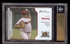 MATT MALONEY 2006 Batavia MuckDogs Phillies BECKETT SLABBED *SILVER* GLOSSY 1/1