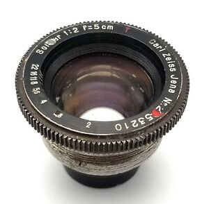Very rare version of Carl Zeiss Sonnar T  5cm 50mm f2.0 lens unit only, no iris!