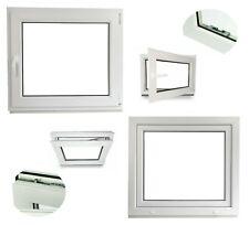 [ALLE GRÖßEN] Kunststoff Fenster Kellerfenster Dreh Kipp 2 Fach verglast Weiß