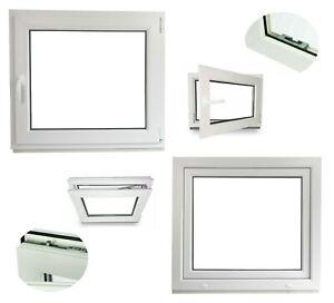 Fenster Kellerfenster Kunststofffenster Breite: 70 cm Premium BxH: 70x100 cm DIN Rechts 2 fach Verglasung Alle Gr/ö/ßen Dreh Kipp Wei/ß