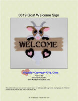 Goat Welcome Sign- Plastic Canvas Pattern or Kit