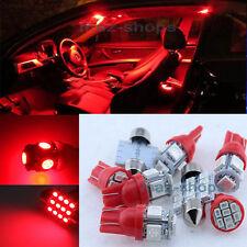 12V Red Interior LED Light Bulbs Lamp Package 9PCS Kit Fit Kia Optima 2011-2017