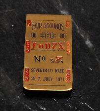 "Rare Fair Grounds 100  ""FnV7X""  No 7 Seventh (7) Race Money Clip July 7 1977 Use"