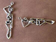 20 Suicide Hanging Hung Skeleton Charm Pendants Gothic Scene Emo Punk Halloween